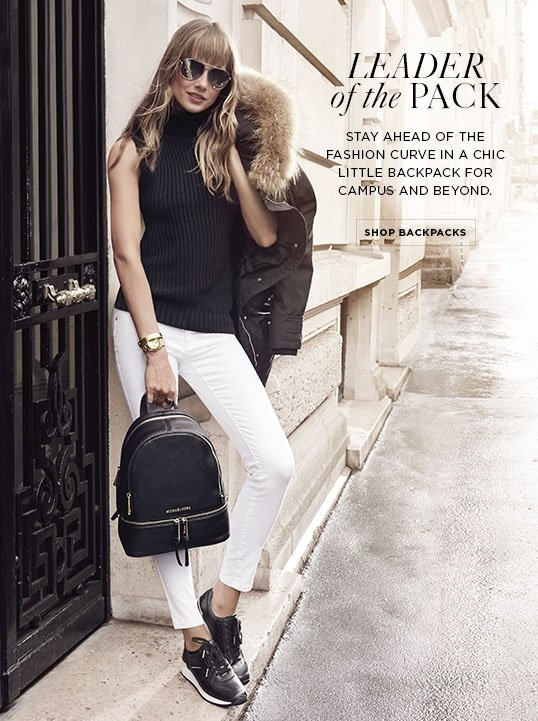 Michael Kors Trend Alert Backpacks Milled