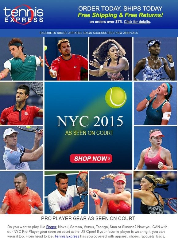 Tennis Express Nyc Pro Gear As Seen On Tv At Us Open Milled