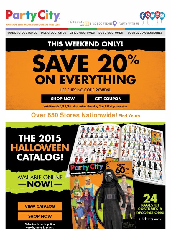 Party city costume coupons