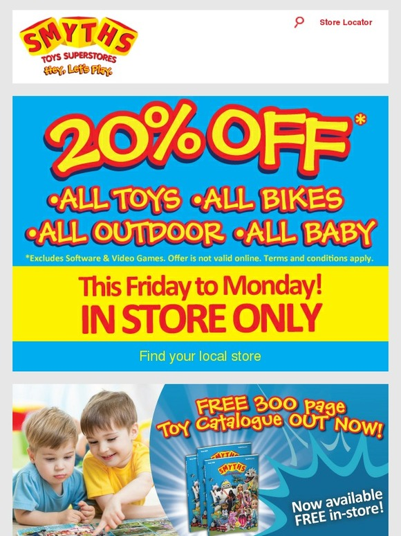Smyths Toys Hq 20 Off All Toys All Bikes All Outdoor