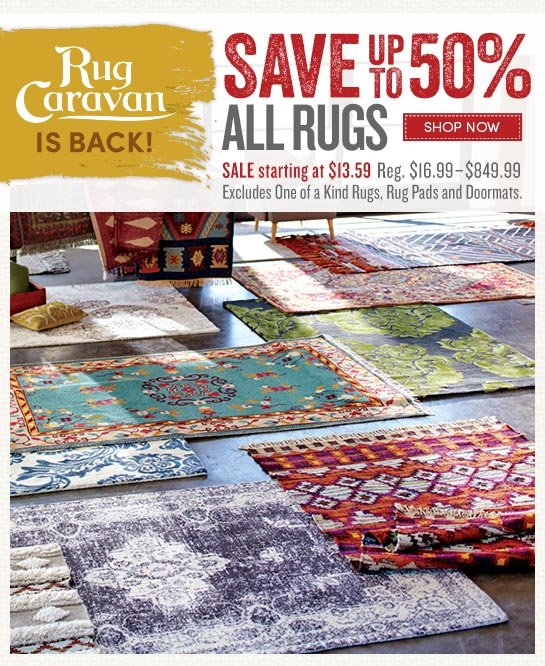 Save Up To 50% All Rugs