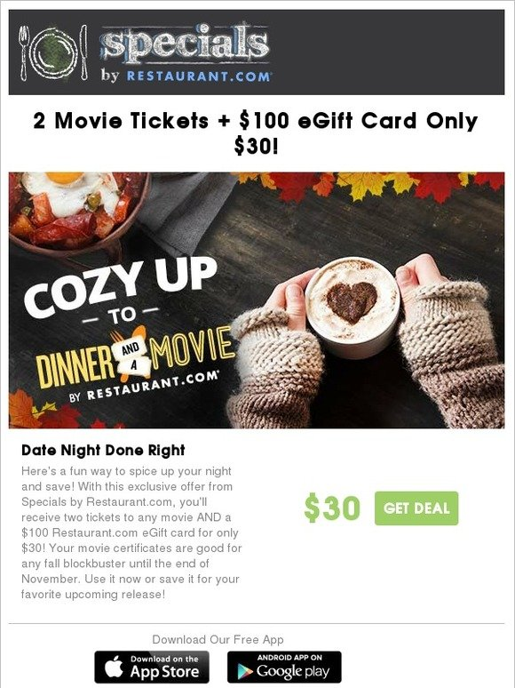 Restaurant com: Dinner + Movie = Perfect Night Out | Milled