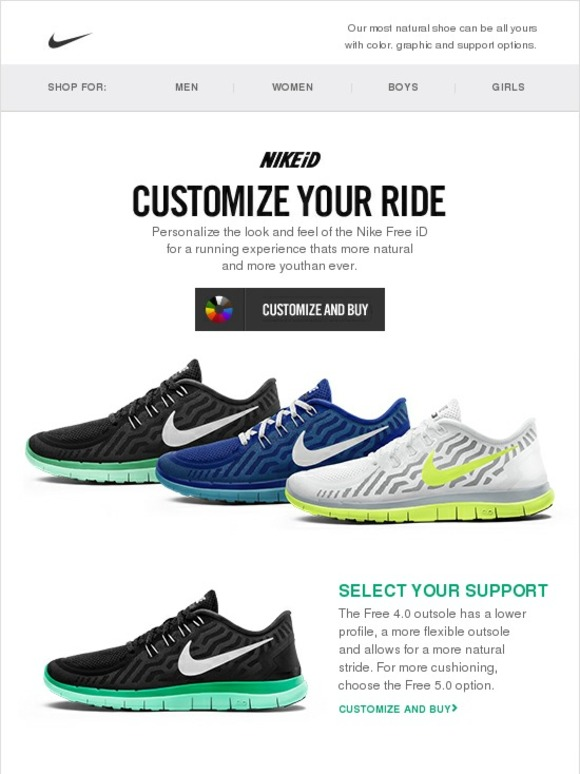 075c9f710333 Nike: Run Free with NIKEiD | Milled