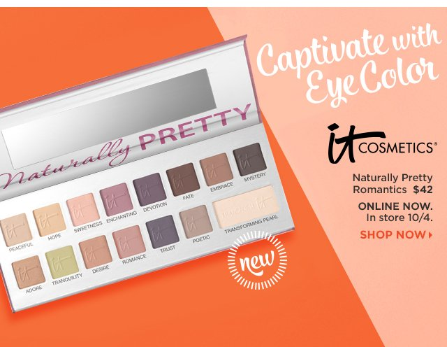 IT Cosmetics Naturally Pretty Romantics Transforming Eyeshadow Palette $42, Shop Now