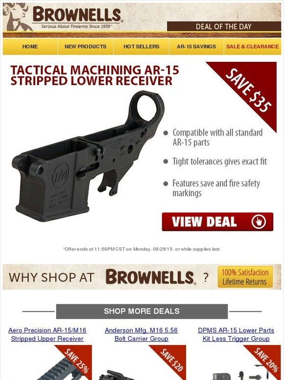 Brownells: Save Now AR-15 Components! | Milled