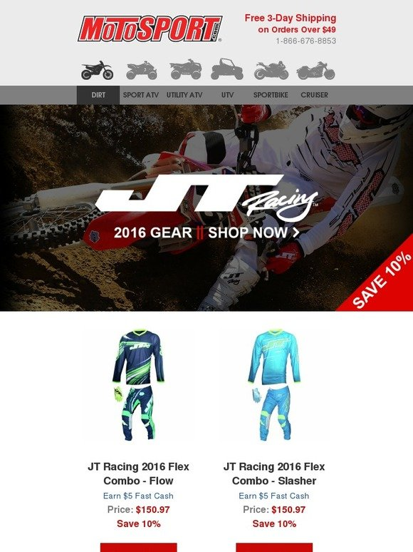 MotoSport: Introducing JT Riding Gear for 2016   Milled