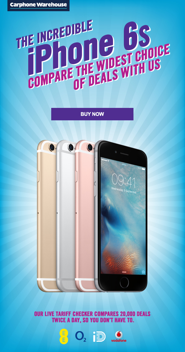 Carphone warehouse iphone 6 deals