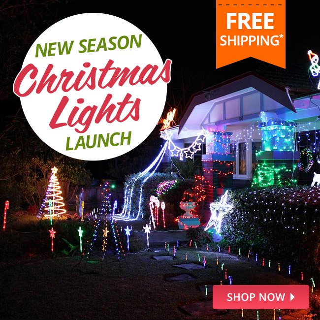 dealsdirect free shipping on all christmas lights catalogue out now milled