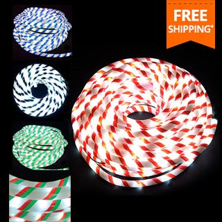 Dealsdirect free shipping on all christmas lights catalogue 20m candy cane stripes christmas led rope lights mozeypictures Gallery