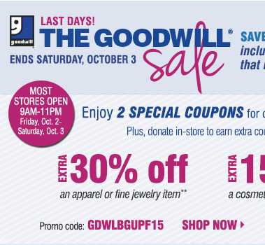 Dec 04, · They're having a goodwill sale this weekend. You bring in some clothing to donate and they give you a coupon you can use at checkout. I brought in some old jeans and got a new purse and leggings for an additional 20% off. Herbergers always has good deals especially if you're into coupons. It's one of my favorite department stores/5(6).