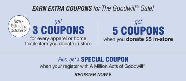 Goodwill discount coupons