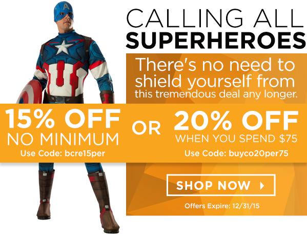 15% OFF No Minimum Code: bcre15per or 20% OFF When You Spend $75 Code: 20per75rebuyco