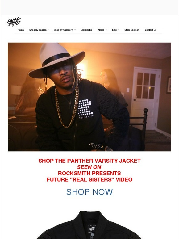 Rocksmith: Panther Varsity Jacket - Seen On Rapper Future Is