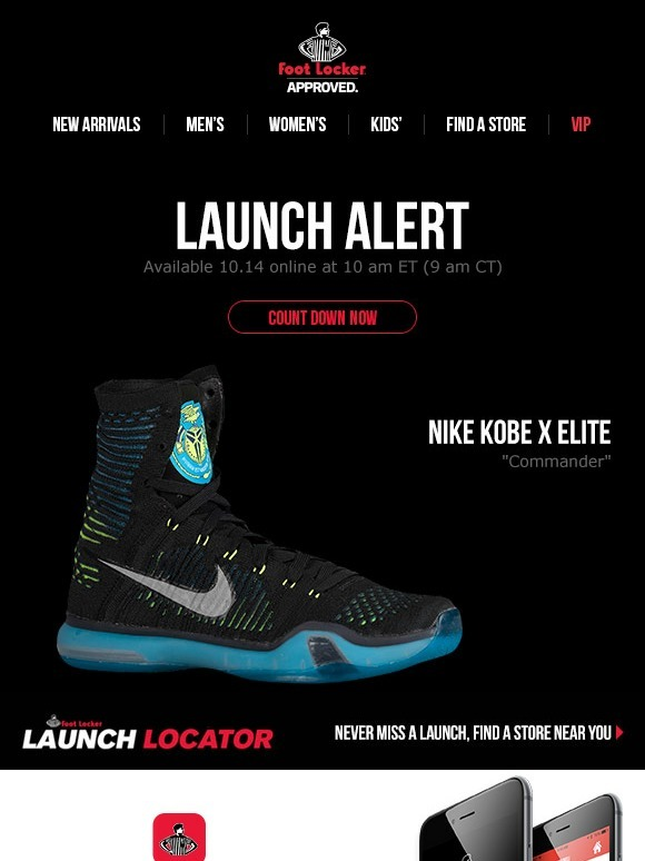 5a465cdfc75f Foot Locker  Dropping tomorrow  Nike Kobe X Elite