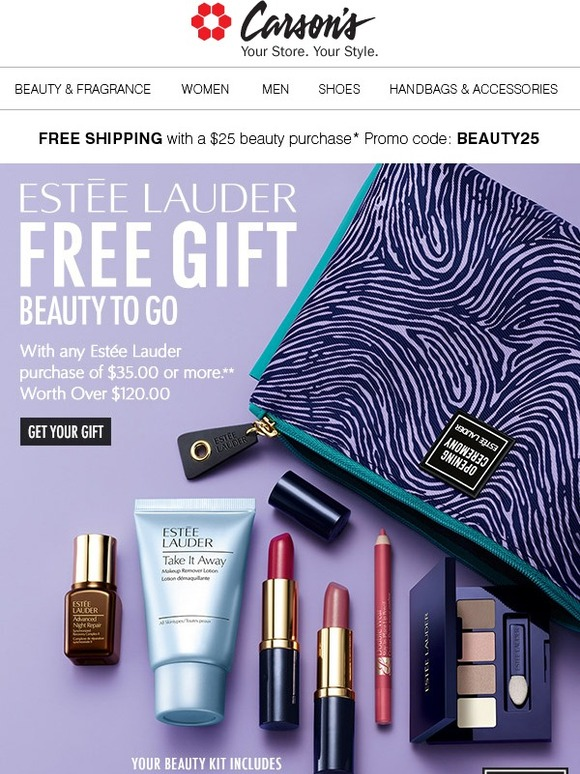 Carson's: Estée Lauder: FREE Gift w/your $35 Lauder Purchase** | Milled