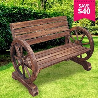 Aestivo Wagon Wheel Garden Bench ...