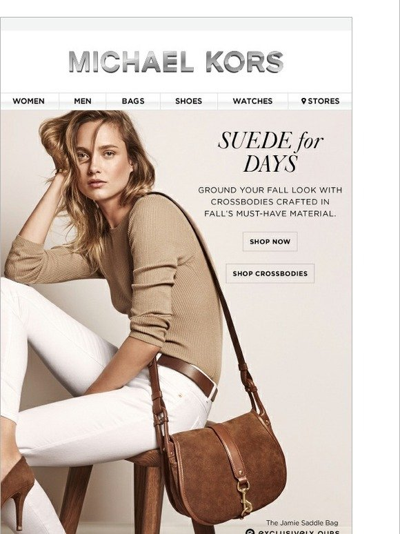 Michael Kors Suede Accessories A Free Tee Milled