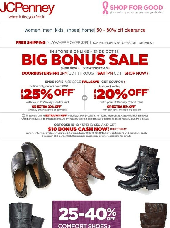 c74ae5837de JC Penney: Step in comfort! Up to 40% off shoes & boots | Milled