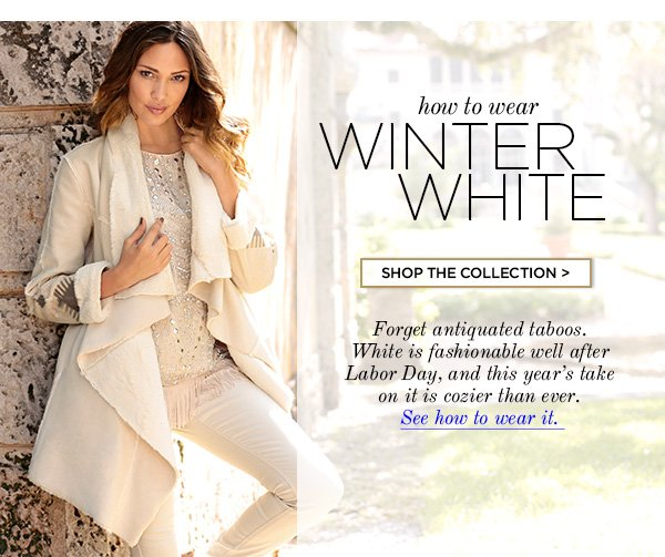 Yes, you can wear white after Labor Day. In fact, it's highly recommended and very fashion-forward of you.