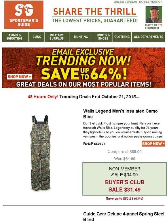 The Sportsman S Guide Shop Our 48 Hour Trending Deals