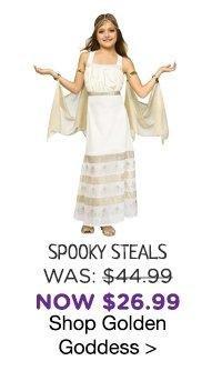 Golden Goddess Costume for Girls
