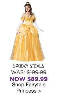 Yellow Elite Adult Fairytale Princess Costume