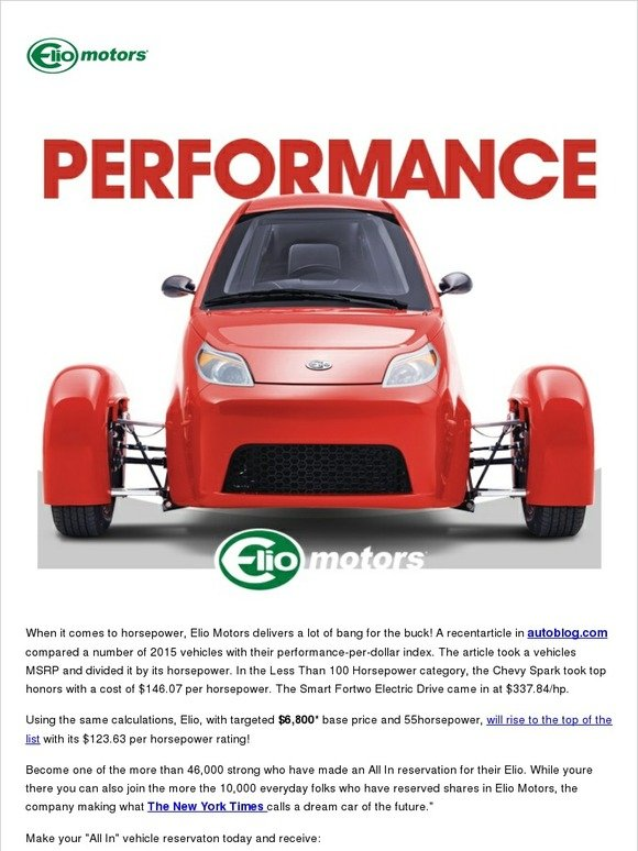 Elio Motors Where On The List Does Your Current Vehicle