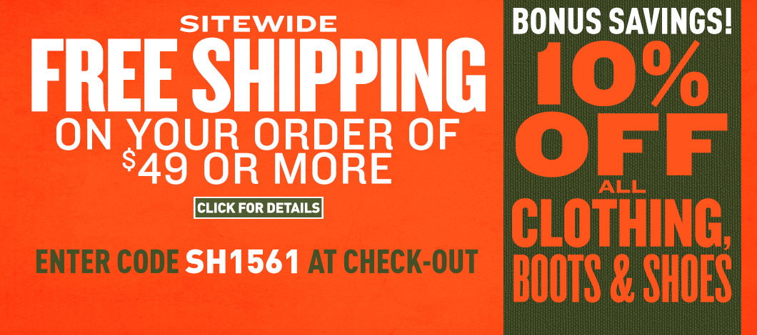500d6e08894 Sportsman s Guide s Sitewide Free Shipping on your Merchandise Order of  49  or more! Bonus Savings