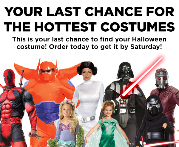 Your last chance to get the hottest costumes