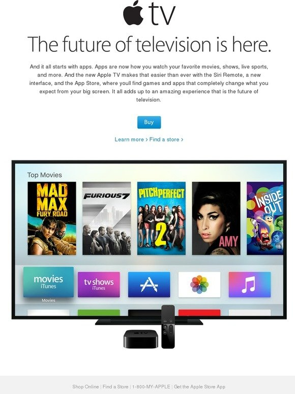 Apple com: The new Apple TV  Now available  | Milled