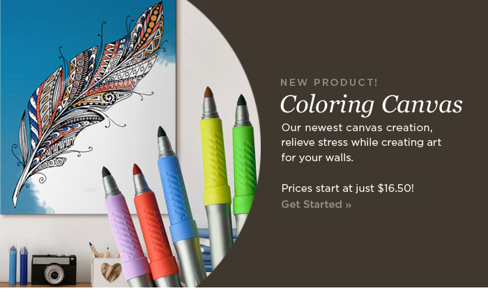 Canvas on Demand: Check Out Our Newest Product: Coloring Canvas ...