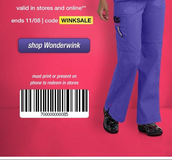Wonderwink coupon code