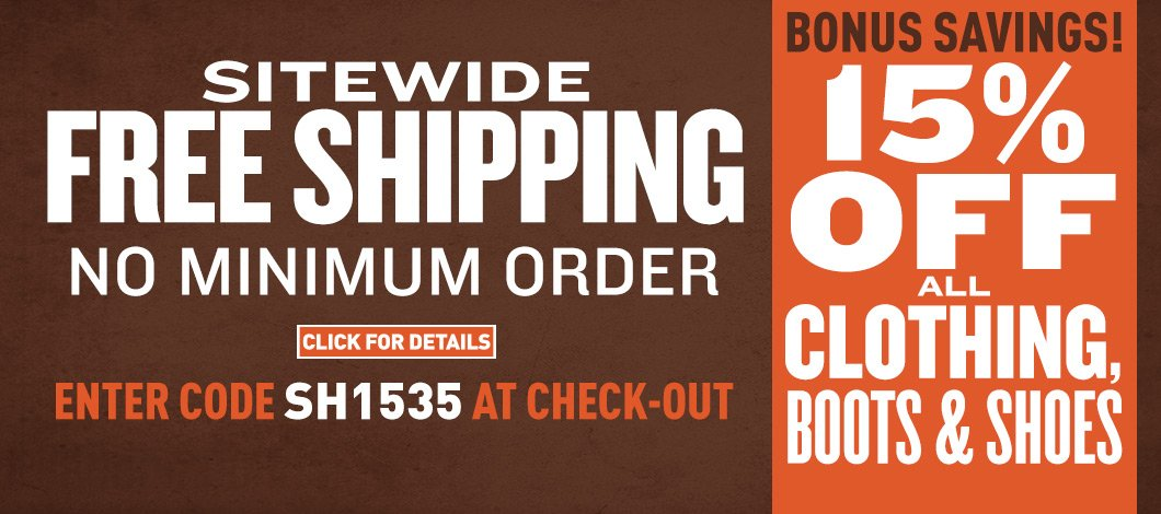 Free shipping your order of $79 sportsman's guide email archive.