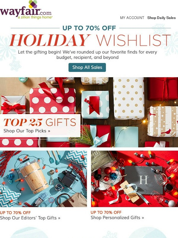 Wayfair May We Present Our Holiday Wishlist Gifts They