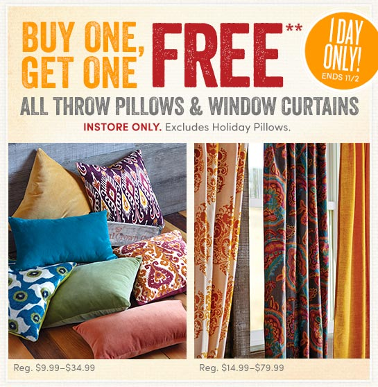 Curtains Ideas cost plus curtains : Cost Plus World Market: BOGO Today only! ALL Throw Pillows and ...