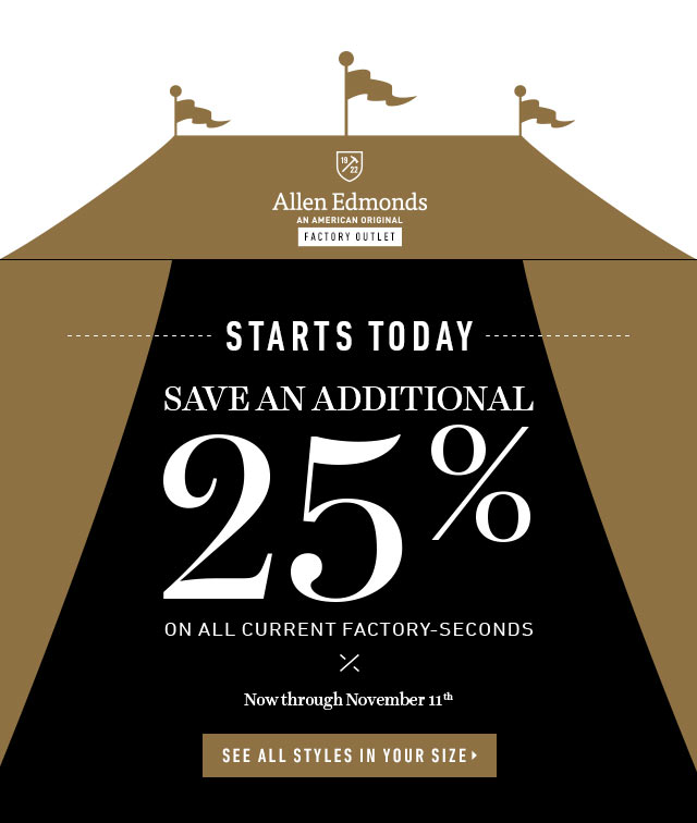 Allen Edmonds: VIRTUAL TENT SALE STARTS