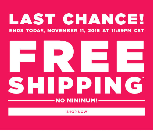 Free Shipping Today: Rue21: LAST CHANCE! Get FREE Shipping Today Only!