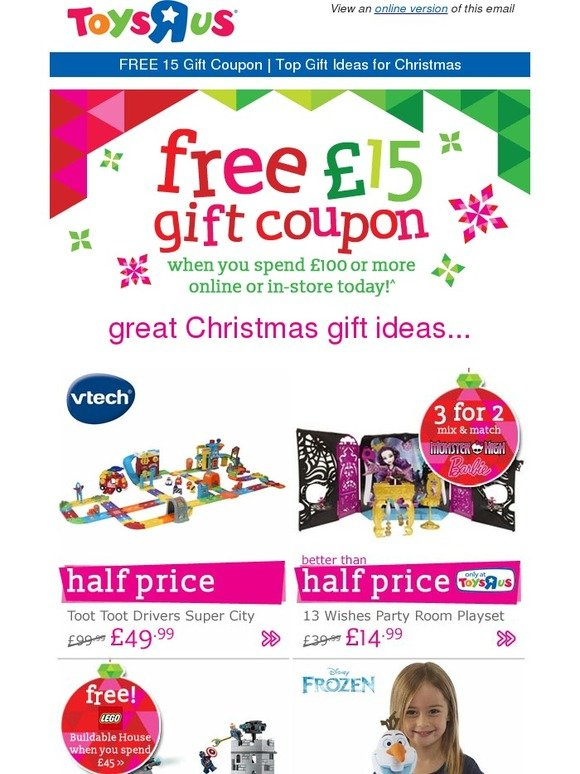 Toys Are Us Christmas Gifts : Toys r us top gifts ideas from our christmas catalogue