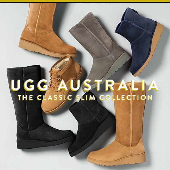 This collection updates the most iconic UGG® boots with a sleeker design, water-resistant materials, added arch support and a more durable sole.