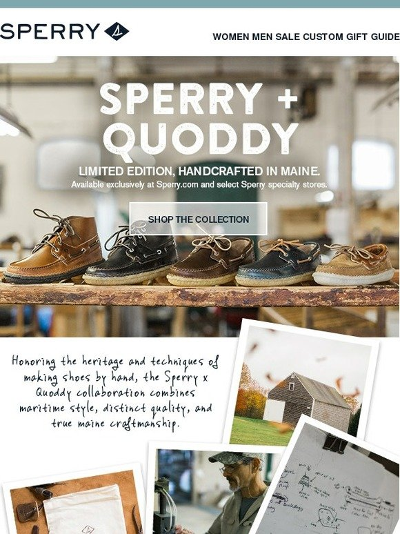 7c79b554385a35 Sperry Top-Sider  Limited Edition  Sperry X Quoddy - Handcrafted in Maine