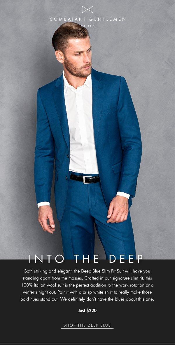 621c1b076c4b Combatant Gentlemen: Just In - The Deep Blue Suit | Milled