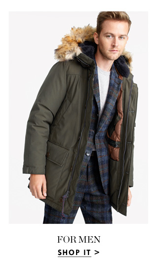 c9c9e8de3 J.Crew: Introducing our warmest coat ever: the Nordic parka | Milled