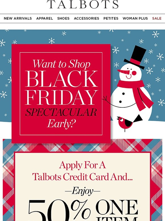 Talbots: Want Black Friday Savings Now? You Need The Card