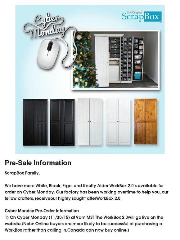 The Original Scrapbox WorkBox 20 Pre Sale Information