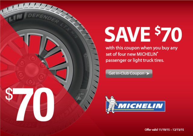 bjs coupon for michelin tires