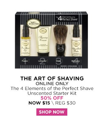 The Art of Shaving | The 4 Elements of the Perfect Shave Unscented Starter Kit 50 Percent Off, Now $15
