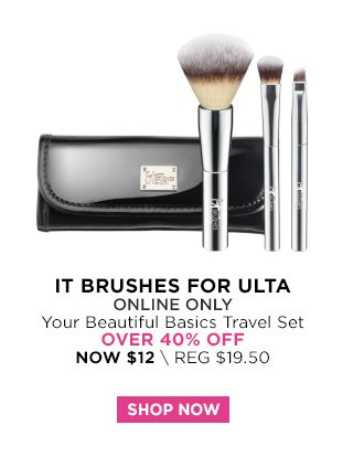 IT Brushes for Ulta | Your Beautiful Basics Travel Set Over 40 Percent Off, Now $12