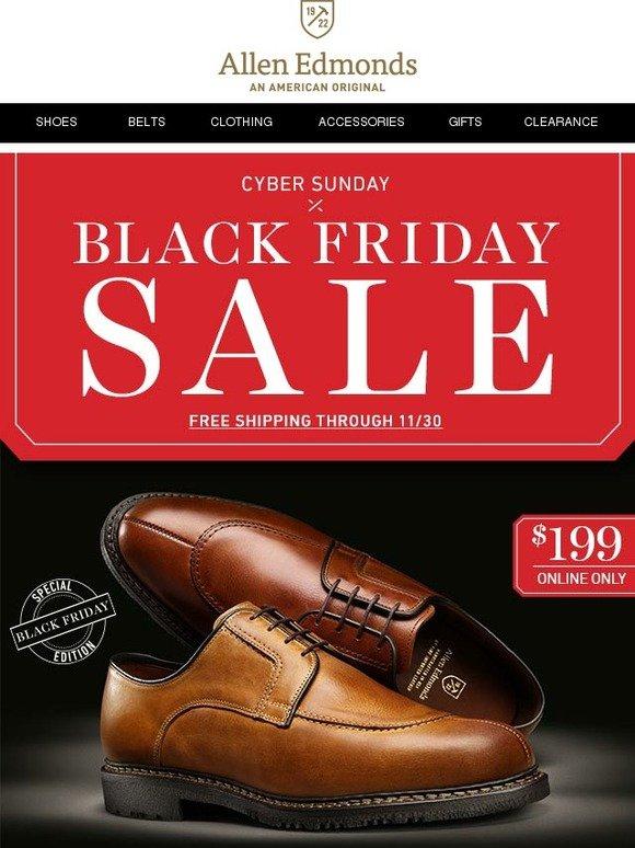 Allen Edmonds: Cyber Sunday Deals   Milled