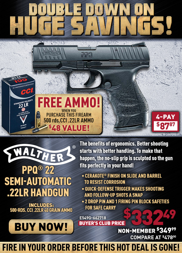 The Sportsman's Guide: Hot Deal: Walther PPQ 22 Semi
