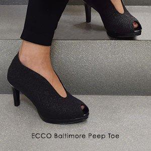 ecco peep toe pumps